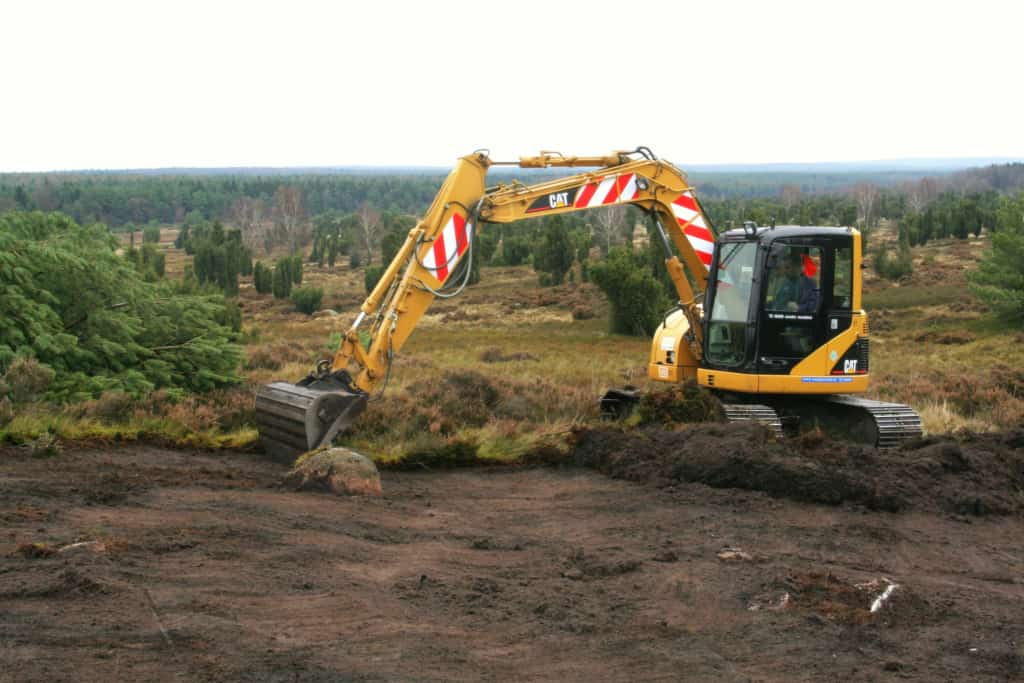 Methods of heath management: sod-cutting with an excavator   VNP Foundation