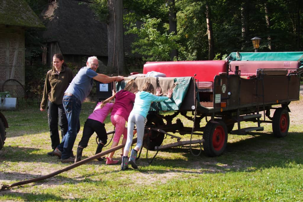 Handling the horse-drawn carriage at the Hillmershof school farm | VNP Children's Academy