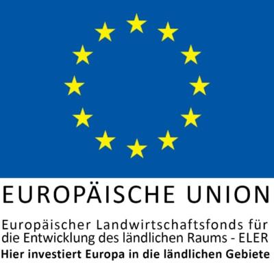 Logo ELER-Fonds Europäischer Landwirtschaftsfonds für die Entwicklung des ländlichen Raums - ELER