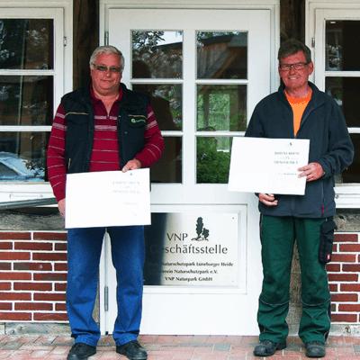 Der VNP gratuliert Gerd Lauszus und Erwin Hassler zu ihrer langjährigen Betriebszugehörigkeit.