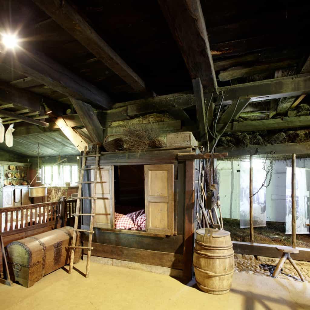 "Heathland museum ""Dat ole Huus"": farmhands' quarters | photo: Burmester"