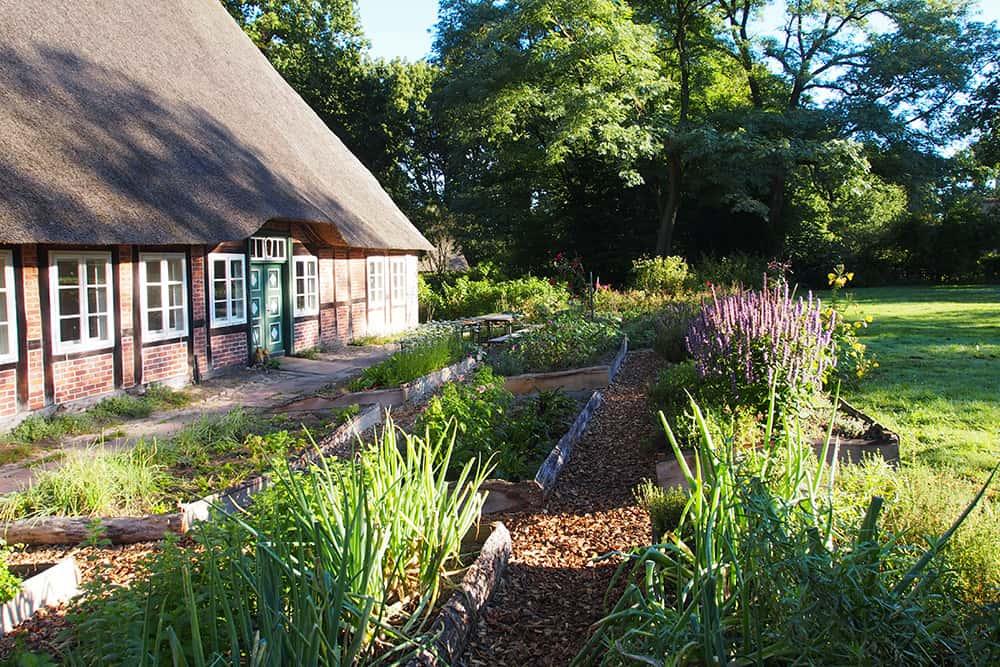 Herb garden at the VNP school farm Hillmershof in Wilsede | VNP Children's Academy