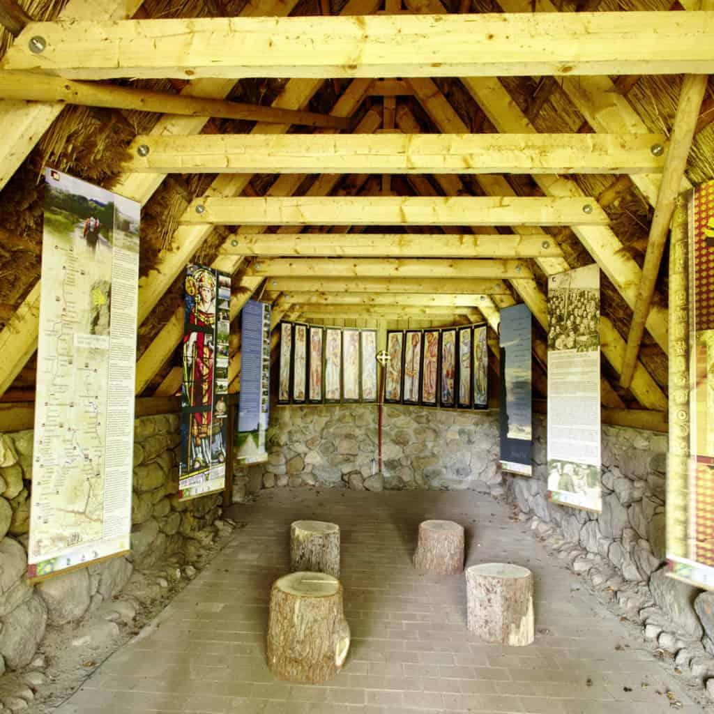 Interior view of the devotional room on the Camino de Santiago in Wilsede | Photo: Burmester