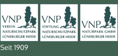 Logos VNP Verein Naturschutzpark Lüneburger Heide, VNP Stiftung Naturschutzpark Lüneburger Heide, VNP Naturpark GmbH Lüneburger Heide