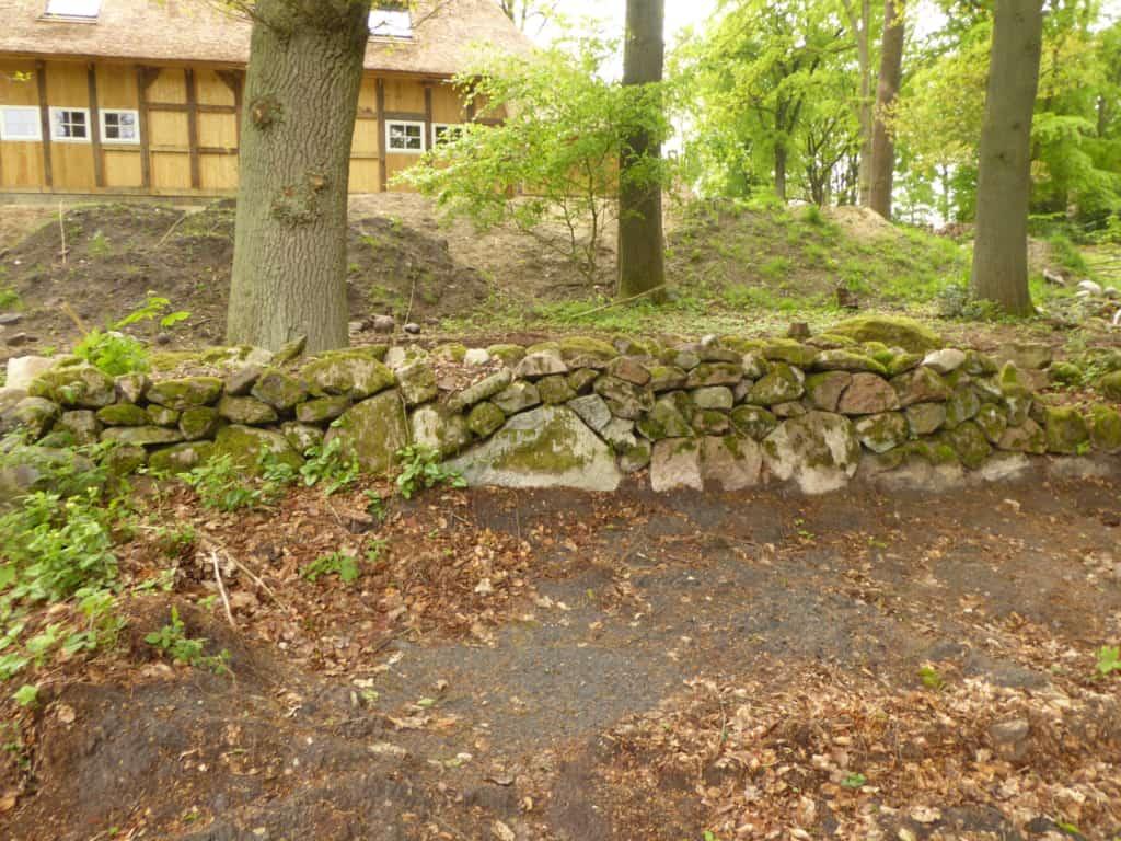 Sanierung Trockensteinmauer auf dem Hillmershof in Wilsede | VNP Stiftung
