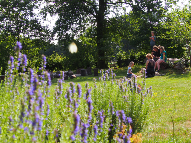 Schulbauernhof Hillmershof Wilsede: Im Garten | Foto: VNP Stiftung Naturschutzpark Lüneburger Heide