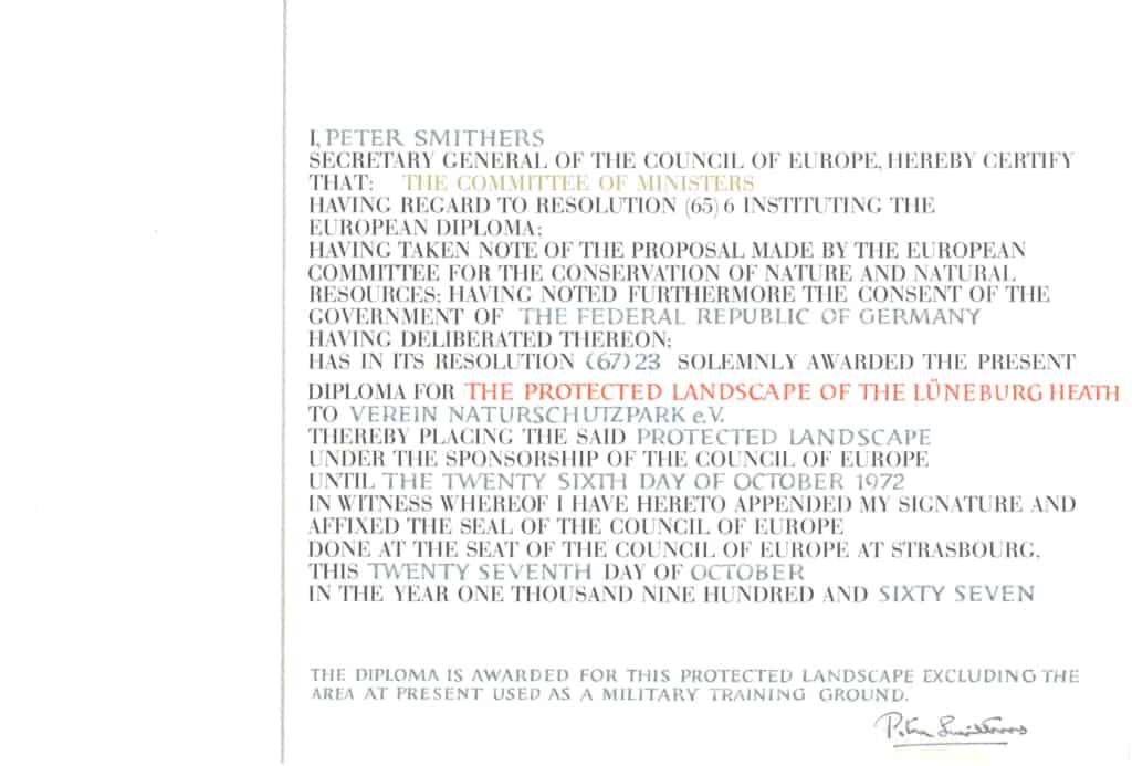 Originaltext des Europa-Diploms