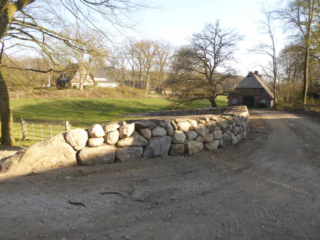 Trockensteinmauer in Wilsede