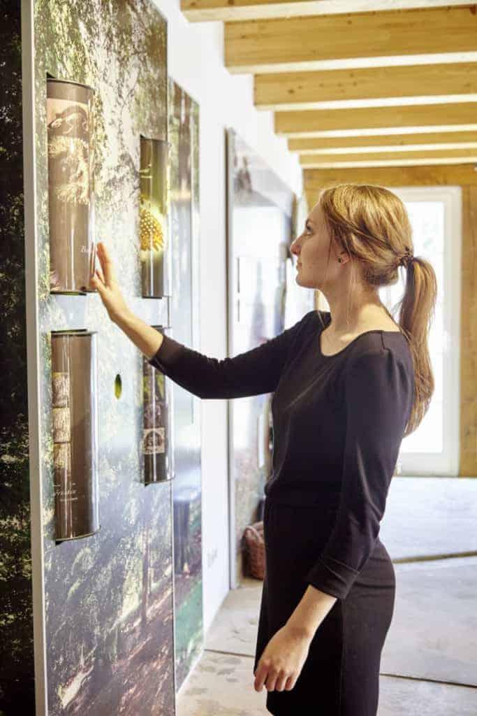 Visitor in the exhibition at the Heide-ErlebnisZentrum Undeloh | photo: Burmester