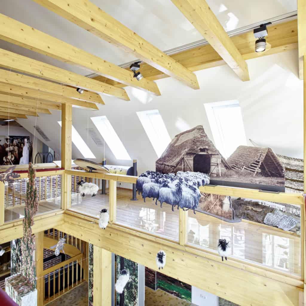 Heide-ErlebnisZentrum Undeloh exhibition upper floor: landscape conservation | photo: Burmester
