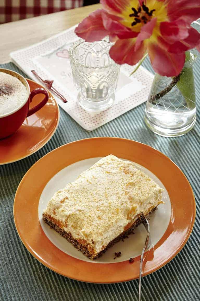 Café Heimatliebe speciality: buckwheat sour cream slice | photo: Christian Burmester