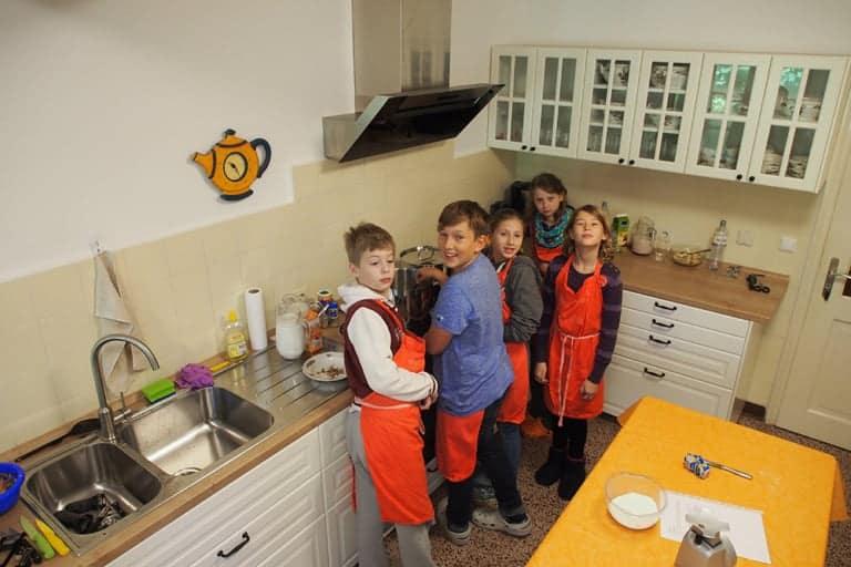 VNP School Farm Kitchen Work | VNP Children's Academy