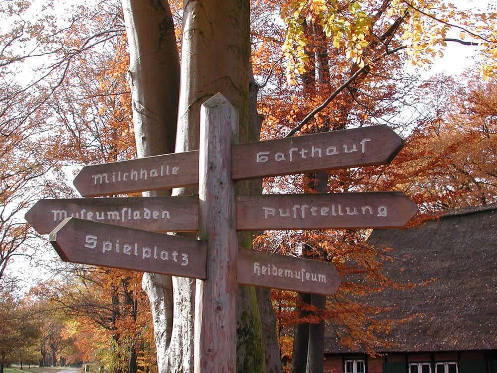 Wooden signpost in Wilsede